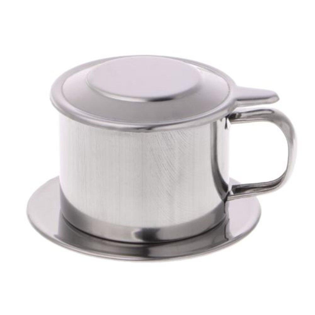 yanQxIzbiu ステンレススチールコーヒーフィルター ベトナムドリップコーヒーメーカーコーヒーインフューザーセット ハンドル付き 3.15インチ×1.97インチ 軽量 S 8 x 5cm 3.15 x 1.97インチ   B07JMYLDQY
