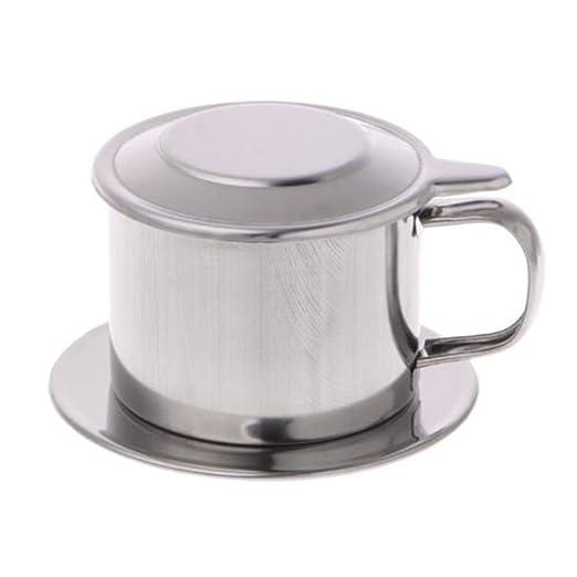 uyhghjhb Tazón de Filtro de café vietnamita portátil, cafetera de ...