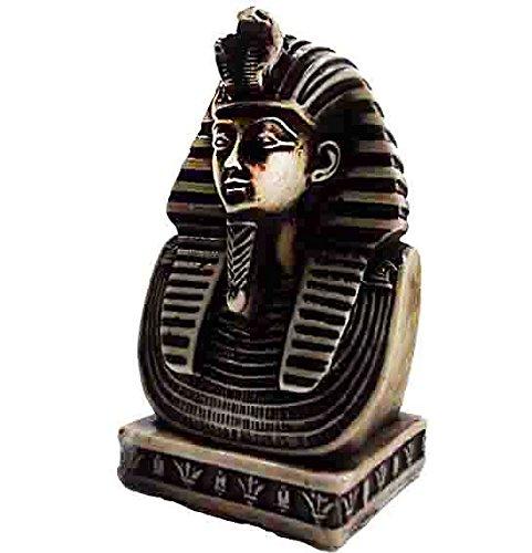 (bonballoon Egyptian King TUT Head Face 3D Pharaoh Figurine Statue Ancient Handmade 3D Sculpture 4