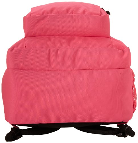 """JanSport Big Student Backpack 4 Functional lightweight backpack featuring double main compartments, mesh side pocket, front pocket with organizer, padded back, and ergonomic S-curved straps Shoulder strap length: 34.5"""" Handle has a drop of 3.25"""" and a length of 8.5"""""""