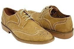 Sand Nuboc Mens Oxford Dress Shoes