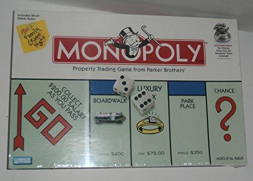 Monopolyプロパティ取引ボードゲームwith WinningトークンからThe Monopolyトークンキャンペーン