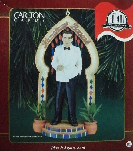 Humphrey Bogart - Play It Again, Sam 1999 Carlton Cards Christmas Ornament (Again Ornament)