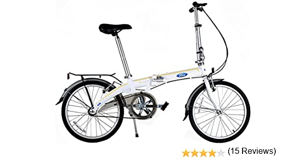 Ford by Dahon - Bicicleta Plegable de una Sola Velocidad Convertible: Amazon.es: Deportes y aire libre