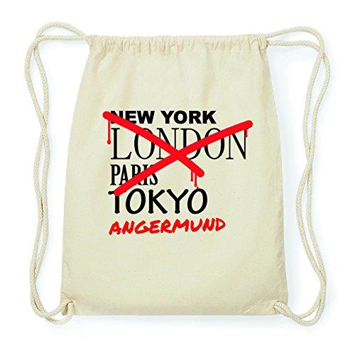 JOllify ANGERMUND Hipster Turnbeutel Tasche Rucksack aus Baumwolle - Farbe: natur Design: Grafitti MtHGZcW