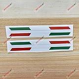 italian flag stripe tape - 3S MOTORLINE 2X Glossy 6'' Pair Italy Italian Flag Stripes Decal Stiker Italia b Car Vinyl sda2