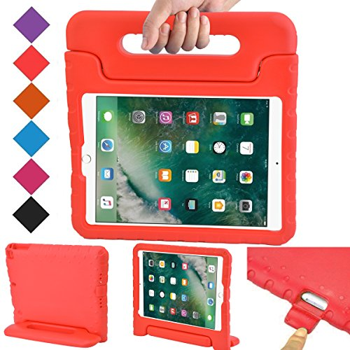 BMOUO Case for New iPad 9.7 Inch 2018/2017 - Shockproof Case Light Weight Kids Case Cover Handle Stand Case for iPad 9.7 Inch 2017/2018 New Model - Red