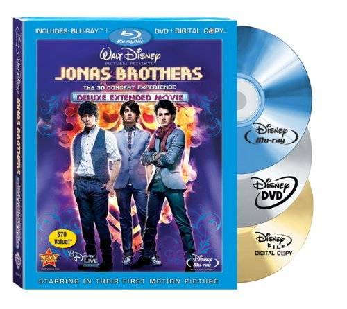 (Jonas Brothers: The 3-D Concert Experience (Anaglyph 3D Blu-ray/DVD Combo w/ BD Live + Digital Copy)[Blu-ray Live])
