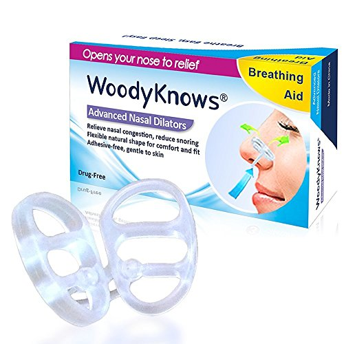 WoodyKnows Snoring Snore Aids Nasal Dilators, SML