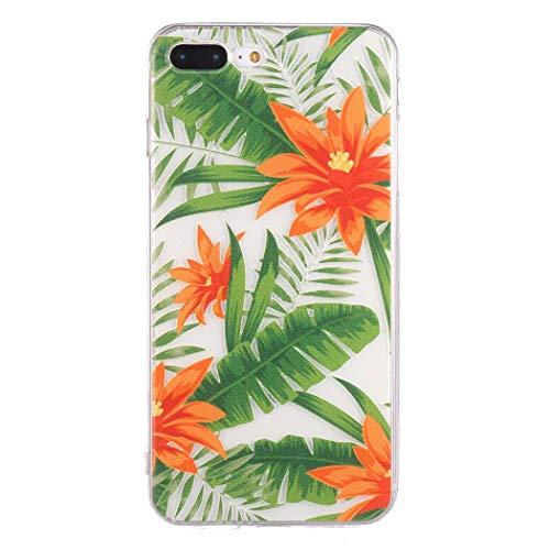 Tiowea Soft Cartoon Tropical Rainforest Print Back Phone Case Slim Cover for iPhone Cases
