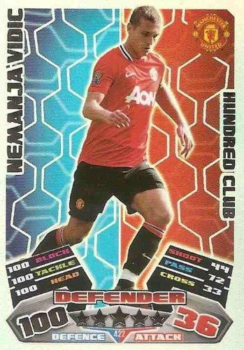 Match Attax 2012 Manchester United 11//12 Nemanja Vidic Hundred 100 Club