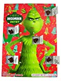 Dr. Seuss The Grinch Christmas Holiday Countdown Calendar with 24 MIlk Chocolates, 1.76 oz- 2-Pack (2-Pack)