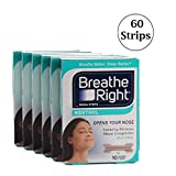(60 Strips) Breathe Right Menthol Vapor Nasal Tan Strips for Cold & Allergy Relief Small Medium Size (This Size Fits the Majority of Adults)