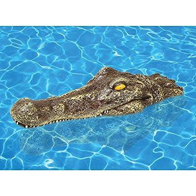 WHAT ON EARTH Crocodile Alligator Head Pool Floater - Fun Pool Floatie Decor: Toys & Games