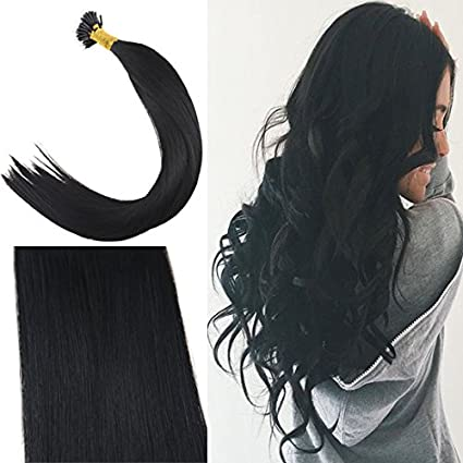 Youngsee 18inch Nano Hair Extensions Balayage Darkest Brown to Medium Brown with Blonde Remy Human Hair Nano Ring Hair Extensions 50g 50strands Weihai Youngsee Crafts co. ltd