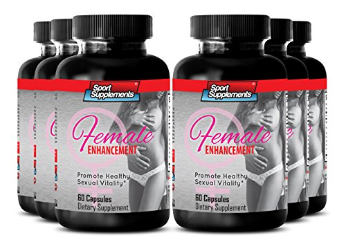 Female Sex Drive, Performance and Arousal Herbal Booster - Natural Female Enhancement Supplement - Female Sexual Support Formula with Horny Goat Weed 1000 Mg (6 Bottles 360 Capsules) by Sport Supplement