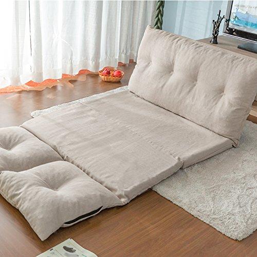 Merax Fabric Folding Chaise Lounge Floor Gaming Sofa Chair
