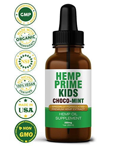 The Best Vegan (Omega 3,6,9) DHA Essential Fatty Acid Supplement For Kids – Helps Attention, Concentration, Focus, & Calming Mood/Behavior – GMO, Gluten, & Mercury Free Hemp Extract Oil