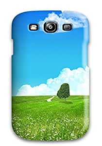 Snap-on Case Designed For Galaxy S3- Lovely Green Landscape