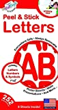 252 PC Peel and Stick Letters & Numbers, 1' and 2' Red Solid, by The Peel People
