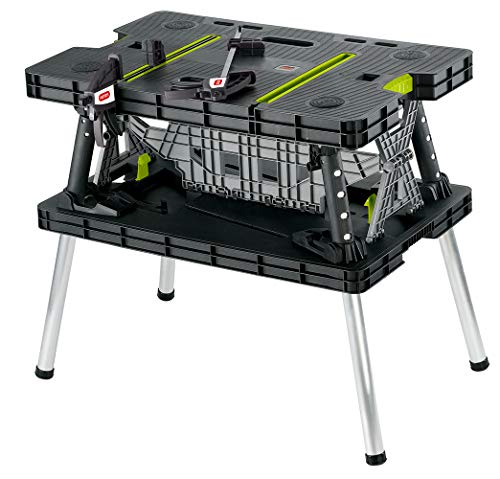 Keter Folding Table Work Bench For Woodworking Tools & Accessories