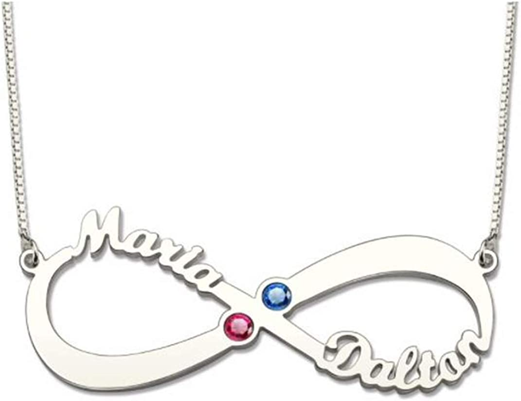 FACOCO 925 Silver Custom Necklace Birthstone Photo Necklace with Babys Feet Fashion Private Custom Necklace