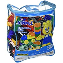 150 Piece Soft Plastic Multi Colored Building Block Set with Wheeled Train Pieces and Carry Bag, Tons of Fun, Great for Kids & Toddlers