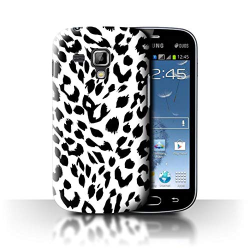 Phone Case for Samsung Galaxy S Duos 2/S7582 Fashion Animal Print Pattern Snow Leopard Design Transparent Clear Ultra Slim Thin Hard Back Cover