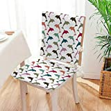 Mikihome 2 Piece Set Chair Cushion Sea Dolphin on White...