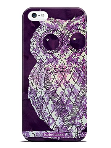 - Inspired Cases 3D Textured Vintage Purple Damask Owl Case for iPhone 5 & 5s
