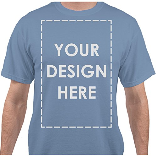 BuildASign Add Your Own Custom Text Name Personalized Message or Image Carolina Blue T-Shirt - Medium