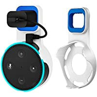 Echo Dot Wall Mount Holder, Celover Outlet Wall Mount Holder for Echo Dot 2nd Generation, A Space-Saving Solution for Your Smart Home Speakers without Messy Wires or Screws (White, 1Pack)