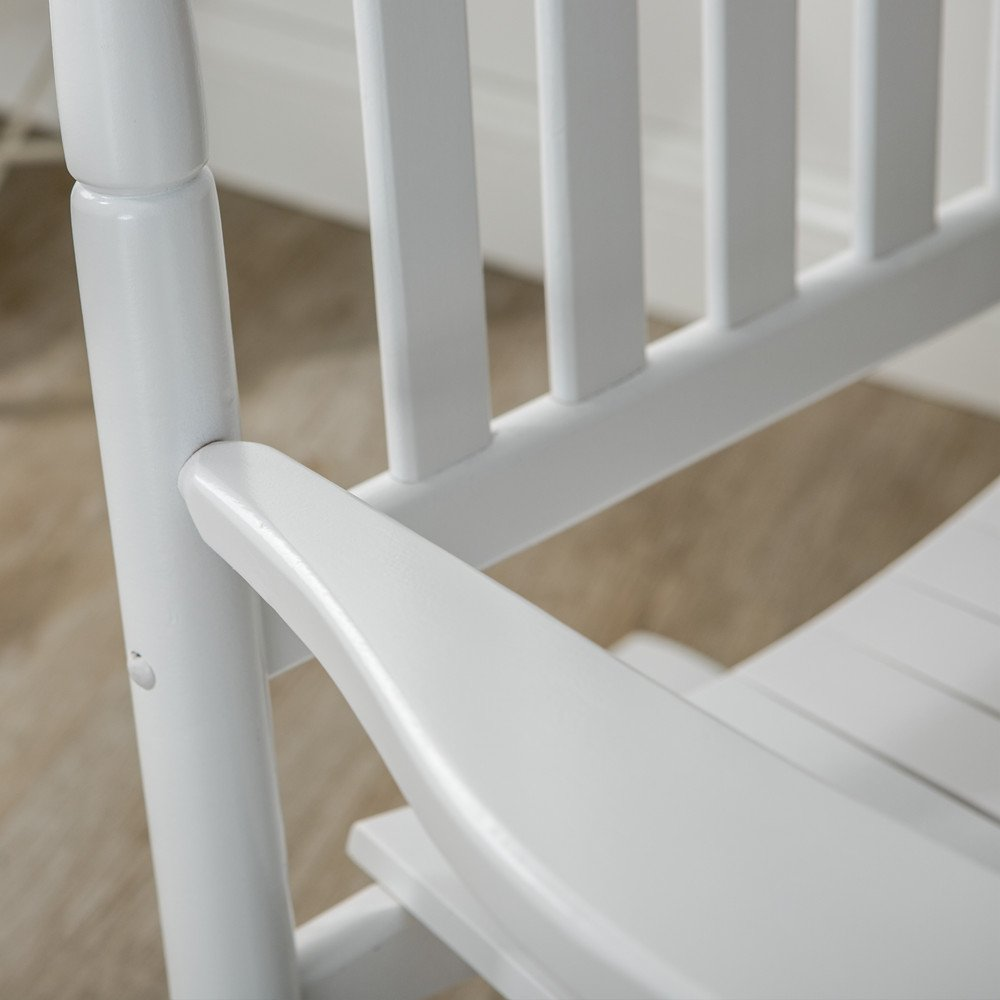 B&Z KD-22W Wooden Rocking chair Porch Rocker White Outdoor Traditional Indoor by B&Z (Image #5)
