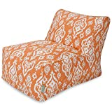 Majestic Home Goods Raja Bean Bag Chair Lounger, Peach