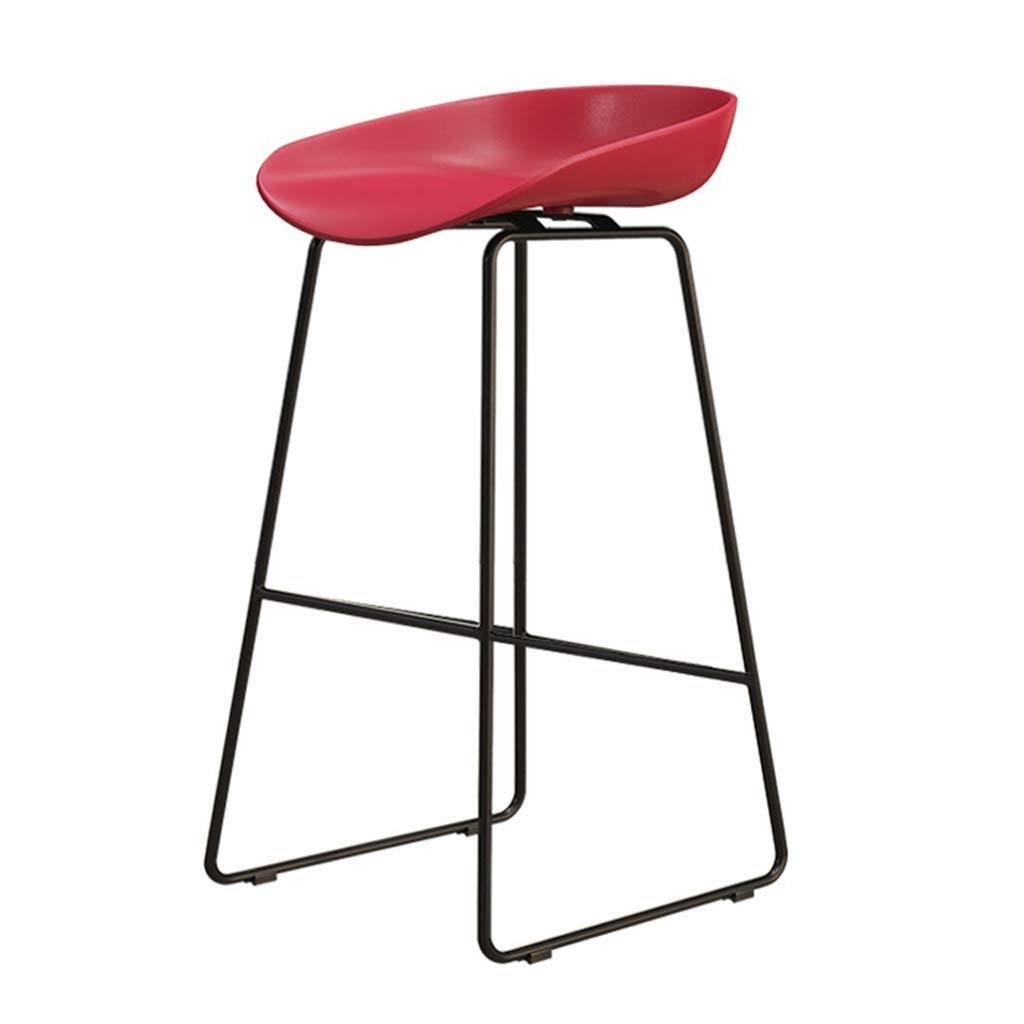 6 Chair Footstool with Ergonomic Chair Dining Chair Breakfast Stool Kitchen Restaurant Bar Cafe Metal Legs LEBAO (color    2)