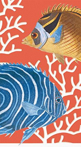 (Caspari 3-Ply Paper Coral Reef, Guest Towel Napkins, Pack of 30)