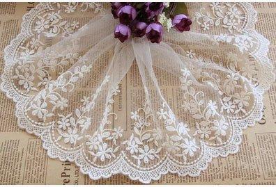 15cm Width Lace Mesh Trim Ribbon Gift Wrap Decor Diy Applique Sewing Craft Flower Bridal Wedding Vintage Fabric Garment 5yards - Pump Short Mall