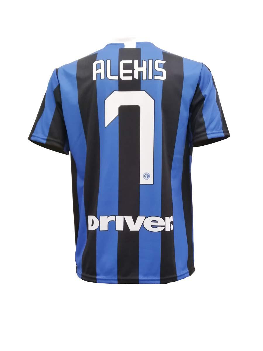 Todos Los Tama/ños NI/ÑO y Adulto Inter Internazionale Serie A Temporada 2019-2020 Replica Oficial con Licencia L.C SPORT SRL Camiseta de F/útbol Alexis Sanchez 7 F.C