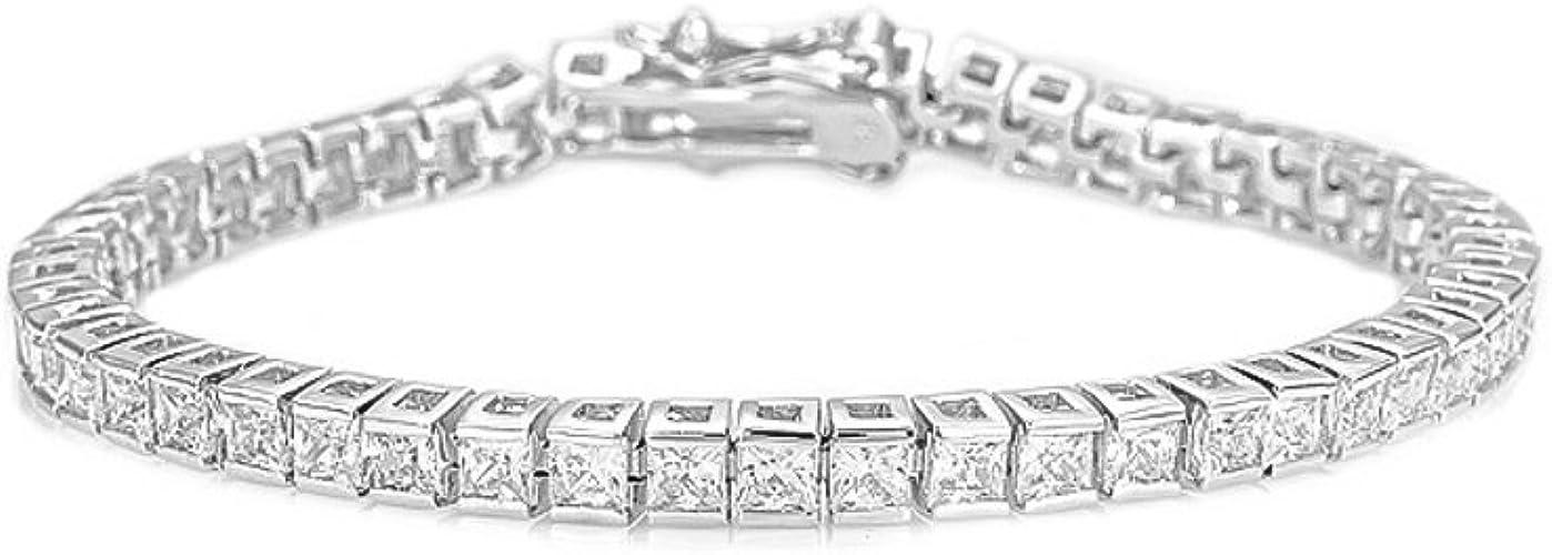 Bracelets for Women Bigsweety Plated Cubic Zirconia Classic Tennis Bracelet