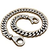 LINSION Lobster Clasp 14 ~ 36'' Huge Heavy 316L Stainless Steel Mens Biker Rocker Punk Wallet Chain 5D006WC 3P7 (22 Inches)
