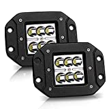KEENAXIS 2PCS 3X3 4.5In Spot Led Work Light Flush Mount Driving Light Cube Pod Lamp for Jeep Truck Tacoma Bumper Lights ATV UTV,1 Year Warranty