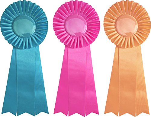 First, Second, and Third Place Prize Ribbon Set - 3 pieces - 13
