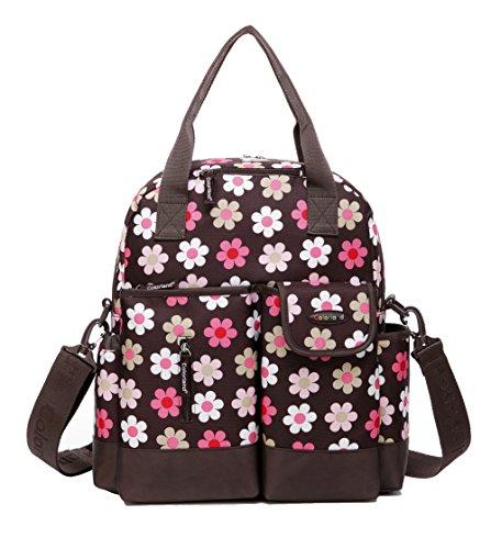 CLD 7colores de las mujeres mochila bolso cambiador pañales tamaño M lunares rojo rosso coffee dot