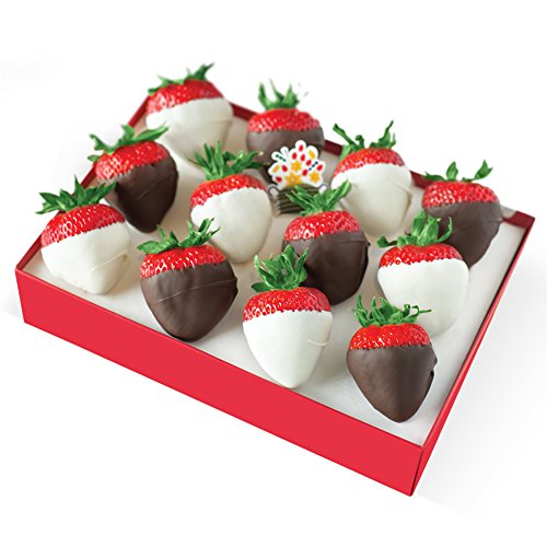 Edible Arrangements White and Semisweet Chocolate Dipped Strawberries Box