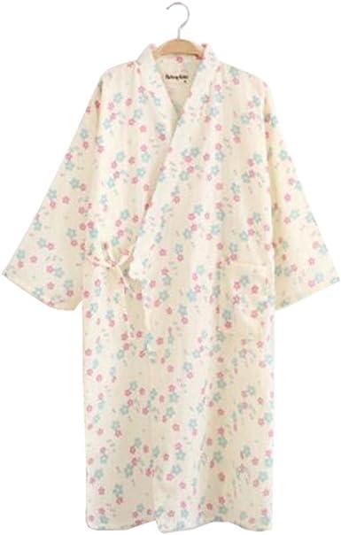 Black Temptation Vestido de algodón ligero para mujer/Albornoz - Kimono Robe 100% algodón - H: Amazon.es: Ropa y accesorios