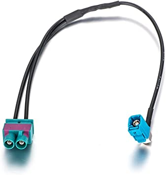 LIEBMAYA Adaptador de Antena de Coche Antena Dab Splitter Cable Fakra para Coche Radio Digital FM RCD330 Plus