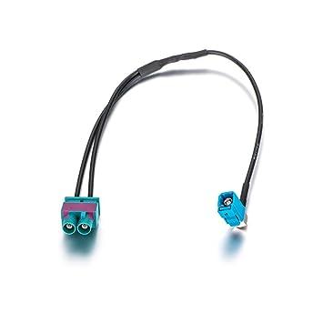 Dual Fakra Autoradio Antennenadapter von Keple Doppel Fakra Stecker Fahrzeug Antenne Stereo FM Navigation GPS-Anschluss f/ür Automodelle