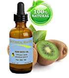 "KIWI SEED OIL. 100% Pure / Natural / Undiluted /Virgin Cold Pressed Carrier oil. 0.5 Fl.oz.- 15 ml. For Skin, Hair and Lip Care. ""One of the richest natural sources of vitamin C & E, potassium, magnesium and a remarkable stable source of omega 3 &6, Alpha Linolenic Acid"". by Botanical Beauty"
