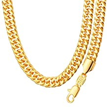 Simple Style 18K Stamp Gold Plated Trendy Necklace&Bracelets For Men Women Chunky Chain Link Bracelet Wholesale NB60087