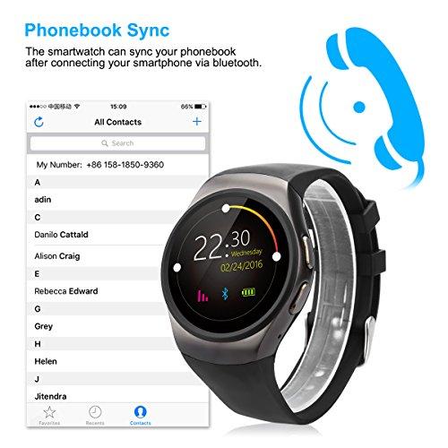 Excelvan KW18 - Impemeable Reloj Inteligente Smartwatch Deportiva Bluetooth (Pantalla 1,3